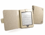 Обложка Tuff-Luv Natural Hemp для Amazon Kindle Touch (Book Style) - Бежевая