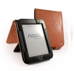 Кожаная обложка Tuff-Luv 'Faux' Leather Barnes & Noble Nook 2 - Flip Style (оранжевая)