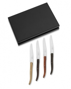 Купить Laguiole En Aubrac Stamped Mixed Handles 4-Piece Steak Knife Set за 9990 руб.